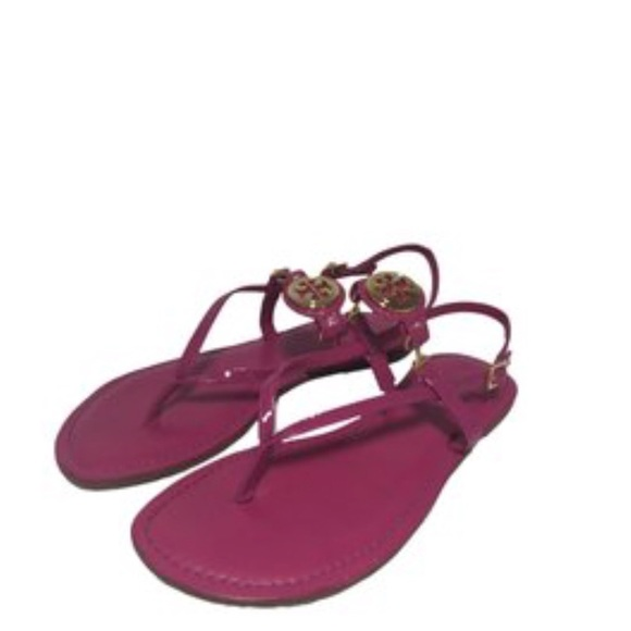6b2749f2ead Tory Burch Pink Orchid Ali Sandal. M 5b04b6af5521bef54f7ed8f6